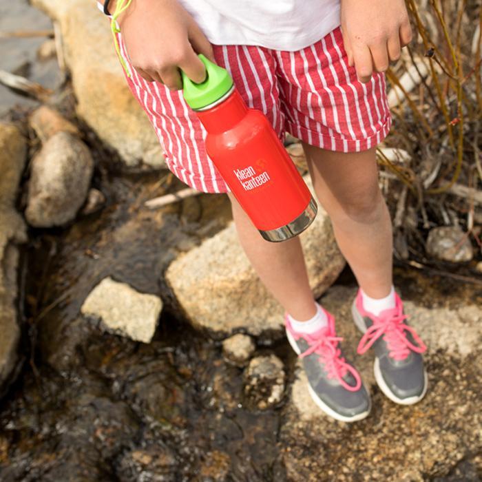 Sticla termos recipient termoizolant cu capac etans Kid Classic 355 ml Klean Kanteen