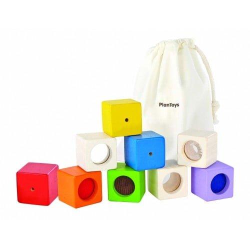 Blocuri senzoriale Plan Toys
