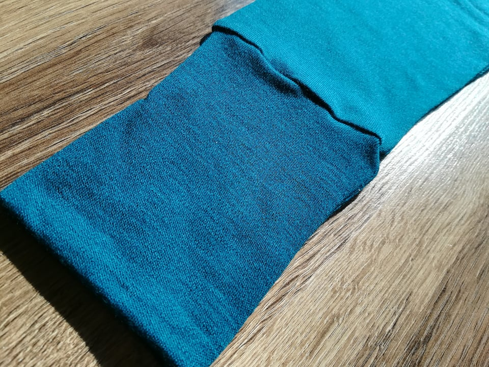 Colanti petrol blue din lana merinos organica pentru barbati Green Rose