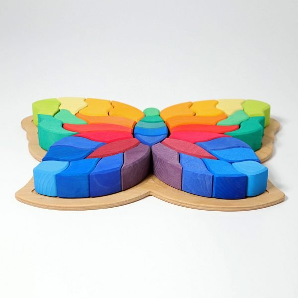 Fluturele Curcubeu - puzzle senzorial si creativ Grimm's