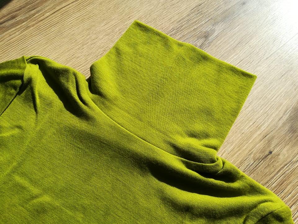 Helanca Green moss din lana merinos organica pentru femei Green Rose
