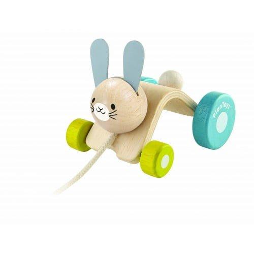 Iepurasul saltaret Plan Toys