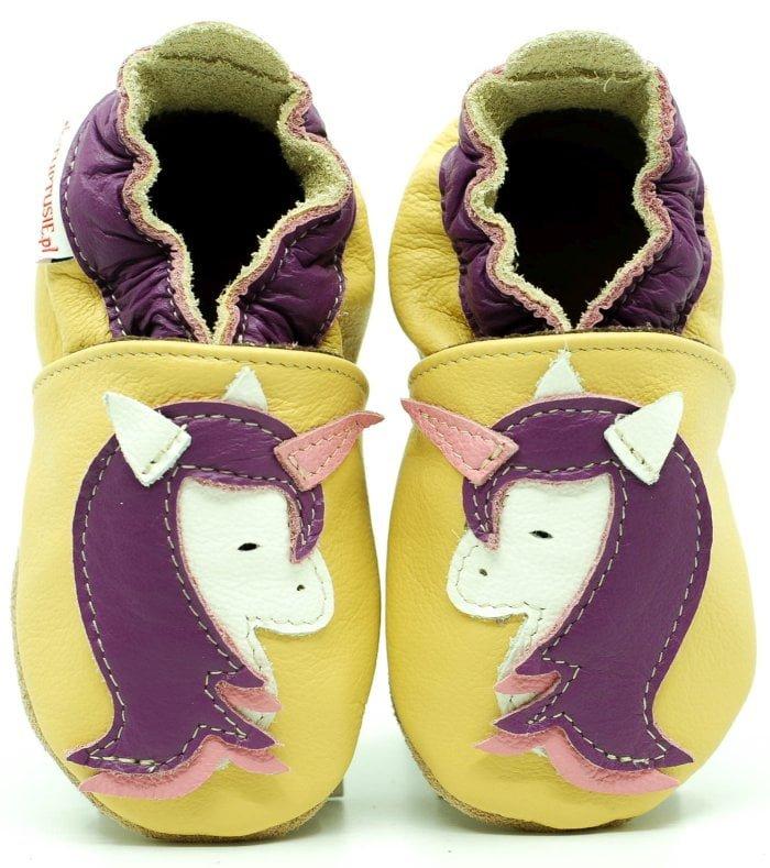 Pantofi cu talpa moale Fiorino EkoTuptusie Faster - Princess Unicorn