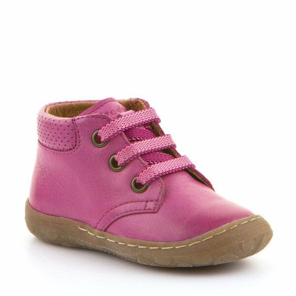 Pantofi din piele cu talpa extra flexibila fuchsia Froddo
