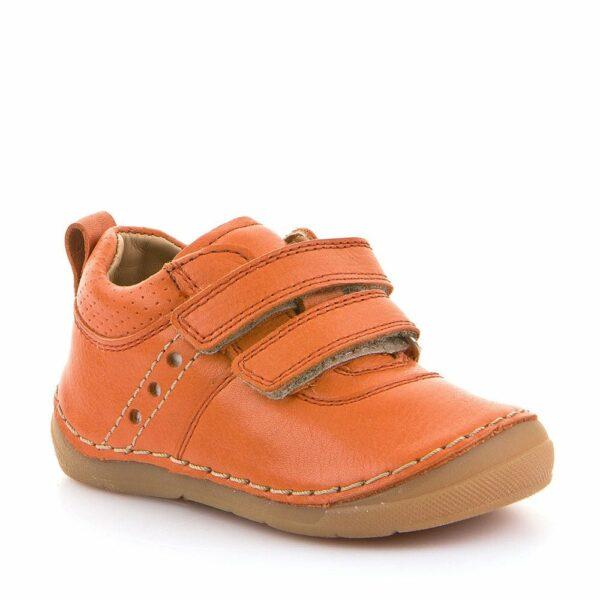 Pantofi din piele cu talpa extra flexibila orange Froddo