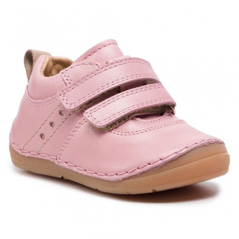Pantofi din piele cu talpa extra flexibila pink Froddo