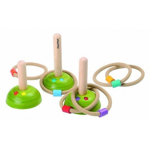 Set de exterior cu inele Plan Toys