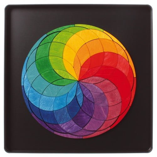 Spirala culorilor - puzzle magnetic Grimm's