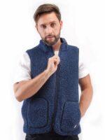 Vestă adulti lana merinos dark blue Rudi Alwero