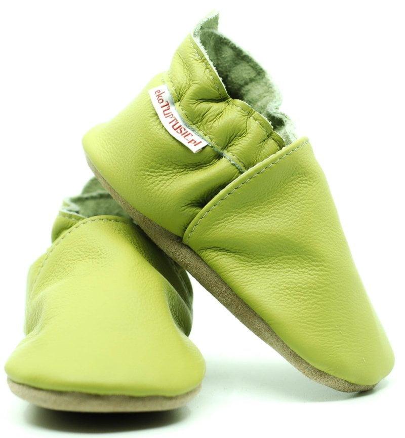Pantofi din piele cu talpa moale Fiorino EkoTuptusie V2 - Natural Green
