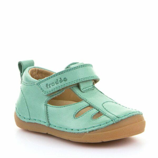 Sandale din Piele Froddo cu Talpă Extra Flexibilă Light Green