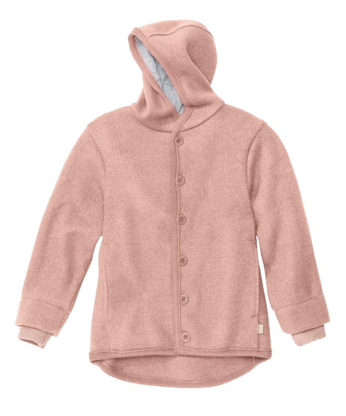 Jachetă Disana din lână merinos boiled wool Rose