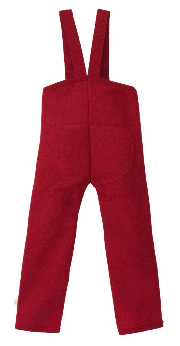 Pantaloni Disana din lână merinos boiled wool Bordeaux