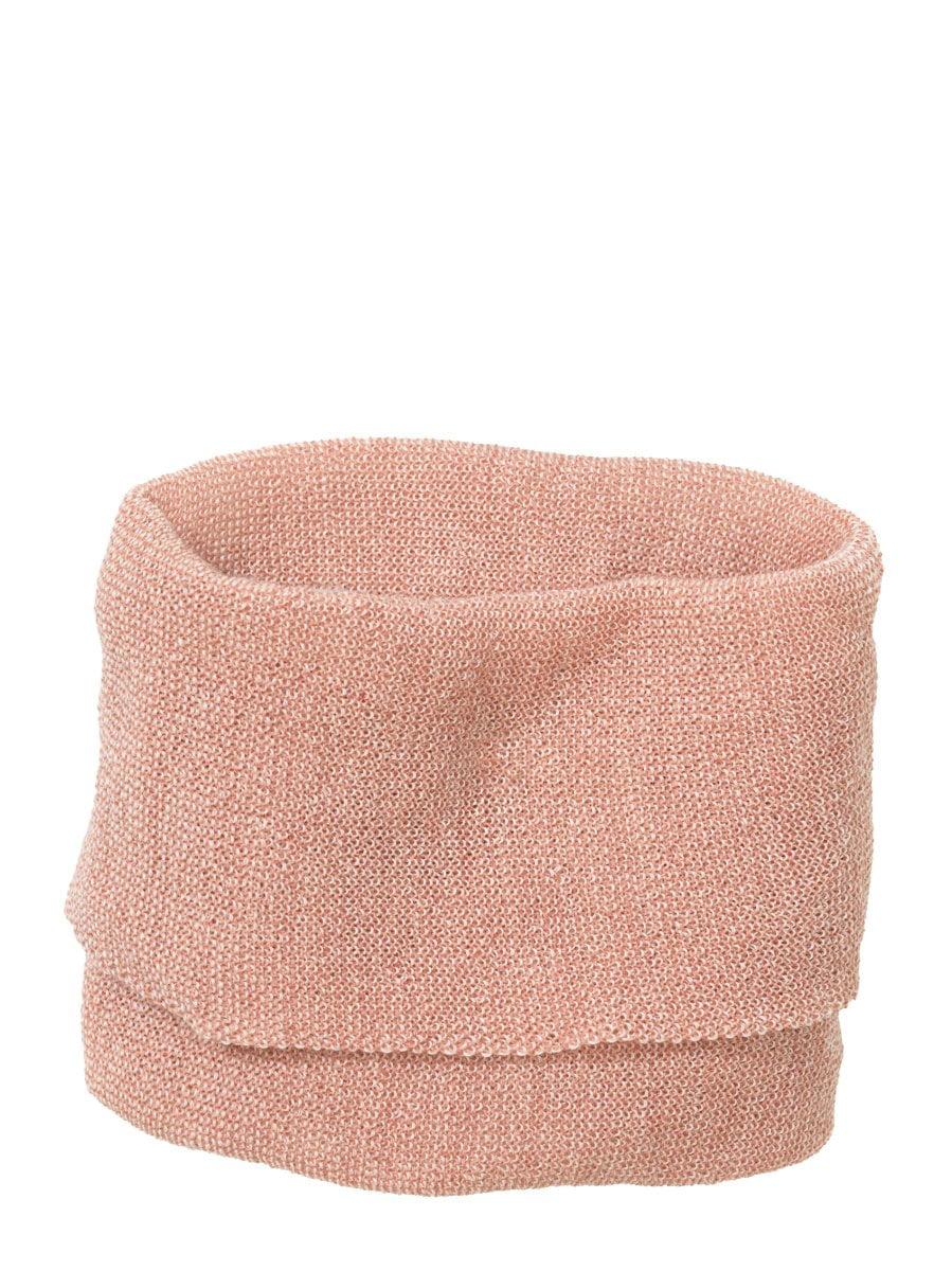 Buff fular circular Disana din lână merinos pentru copii Rose/ Natural