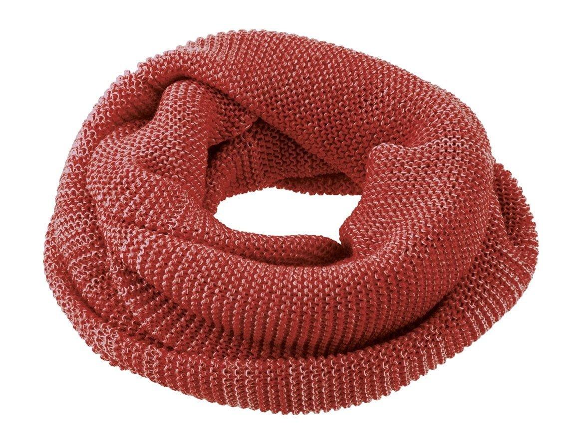 Buff fular circular Disana din lana merinos pentru copii Bordeaux Rose