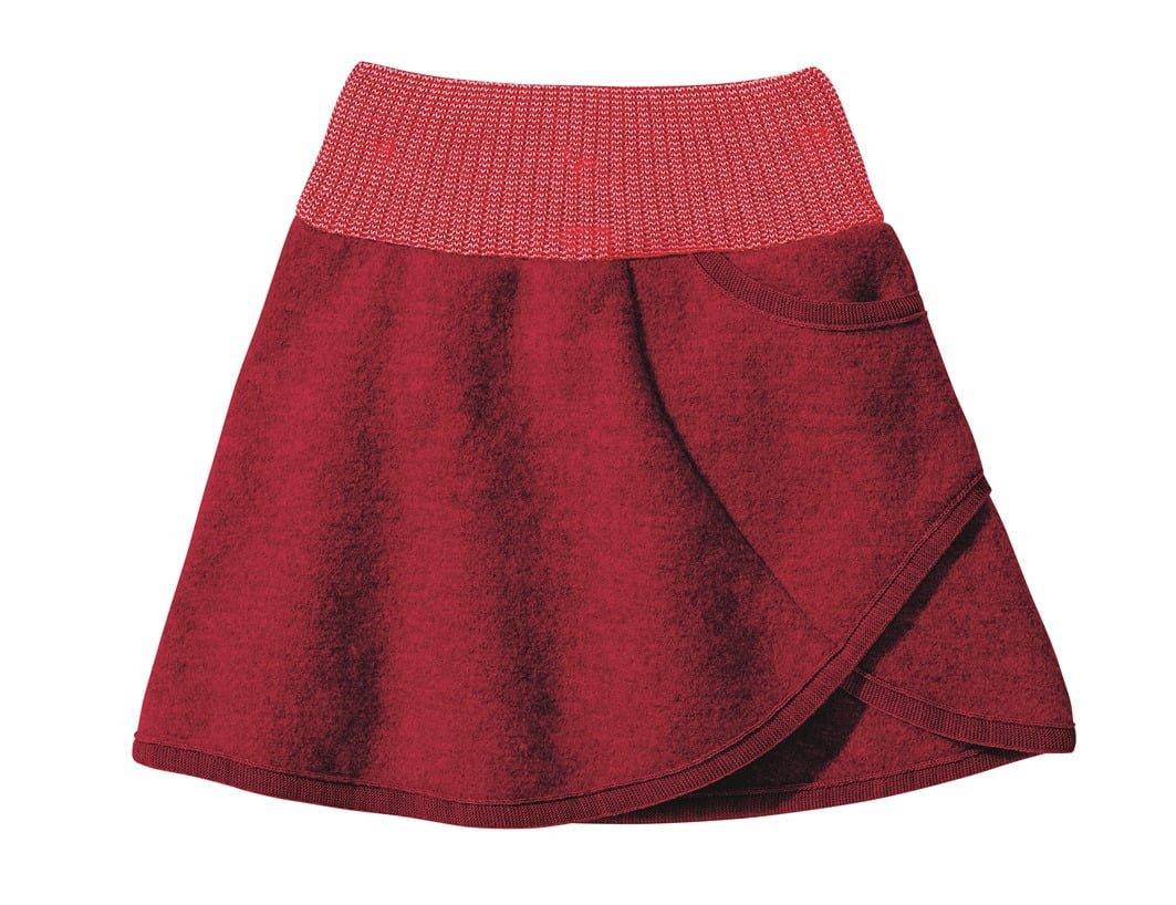 Fusta Disana din lana merinos boiled wool Bordeaux
