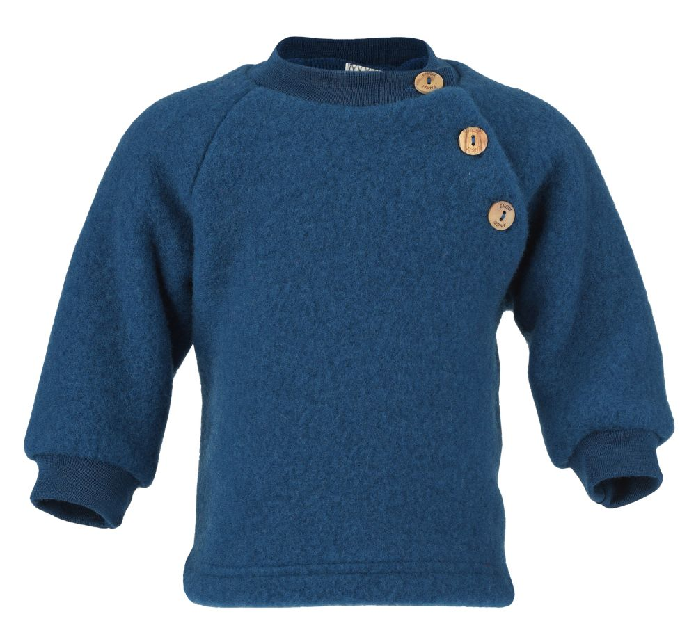 Pulover din lana fleece pentru copii ocean - Engel
