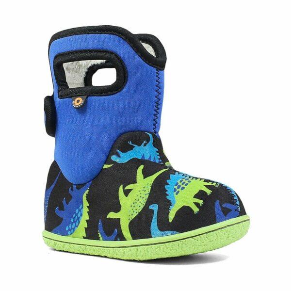 BOGS Footwear cizme de iarnă impermeabile Baby Bogs Dino Electric Blue Multi 1