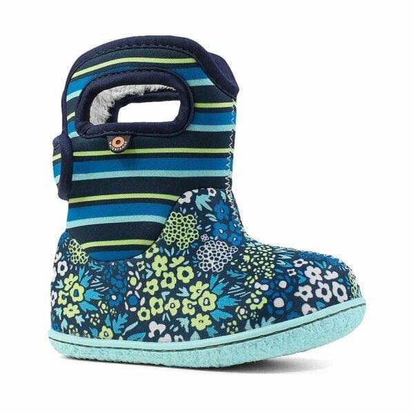 BOGS Footwear cizme de iarnă impermeabile Baby Bogs Northwest Garden Teal Multi 1