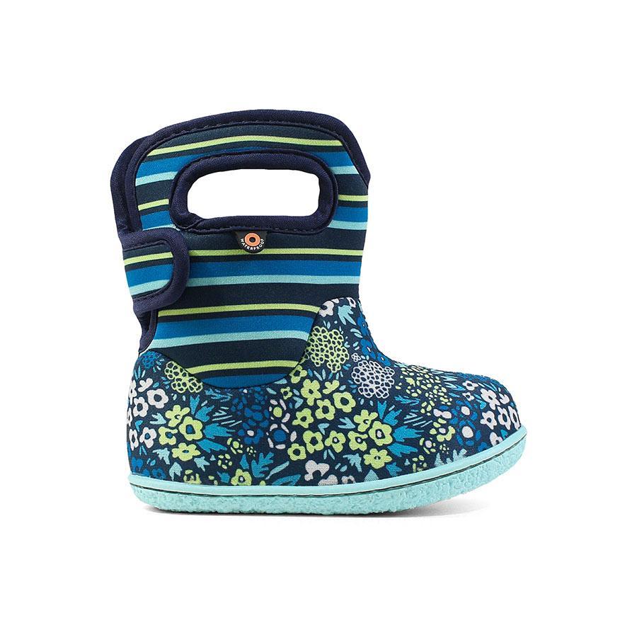 BOGS Footwear cizme de iarnă impermeabile Baby Bogs Northwest Garden Teal Multi