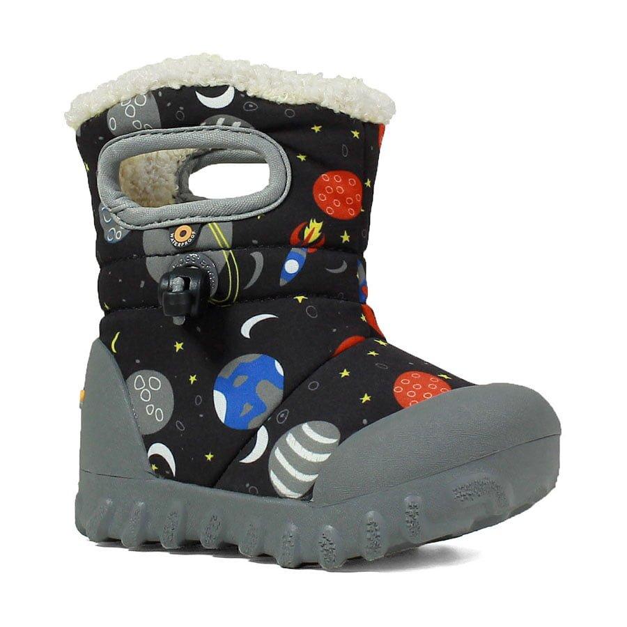 BOGS Footwear cizme de iarna impermeabile B-MOC Space Black Multi 2
