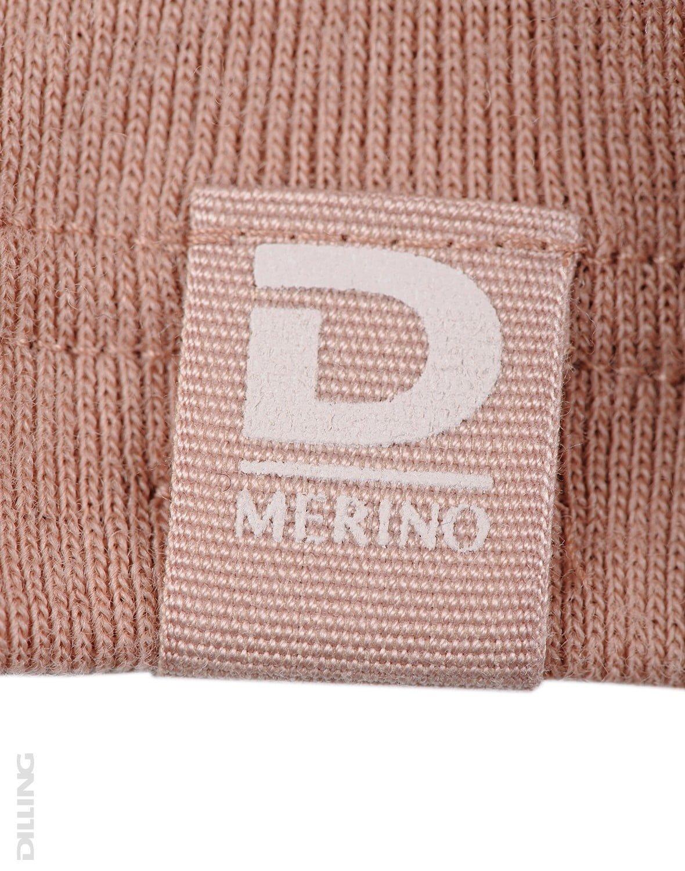 Bluză cu mânecă lungă roz pudrat din lână merinos organică pentru femei Dilling 1