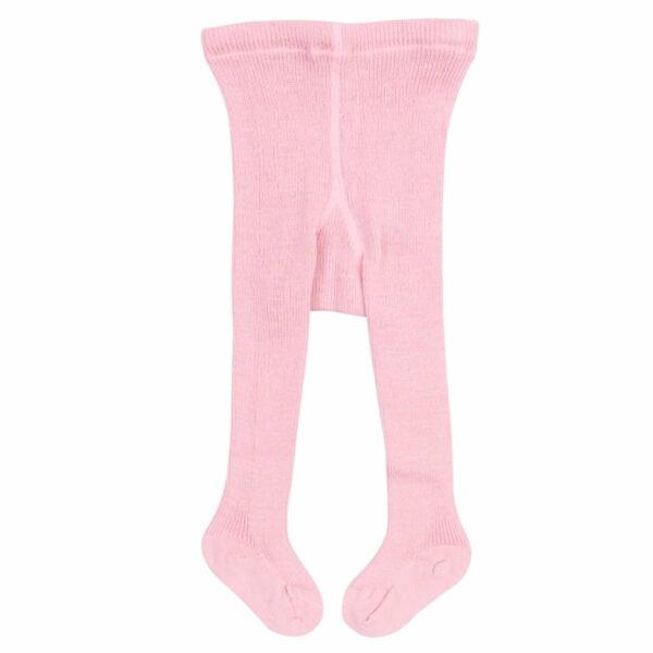 Dresuri groase din lână organică roz pentru copii Grodo