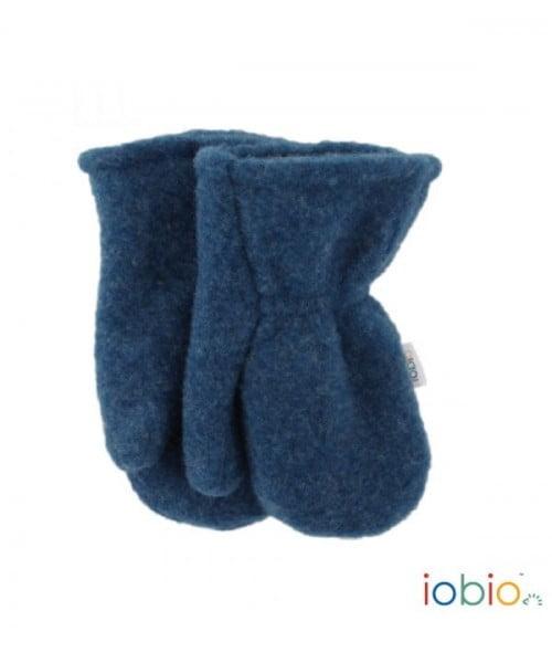 Mănuși groase din lână merinos organică fleece jeans Iobio Popolini
