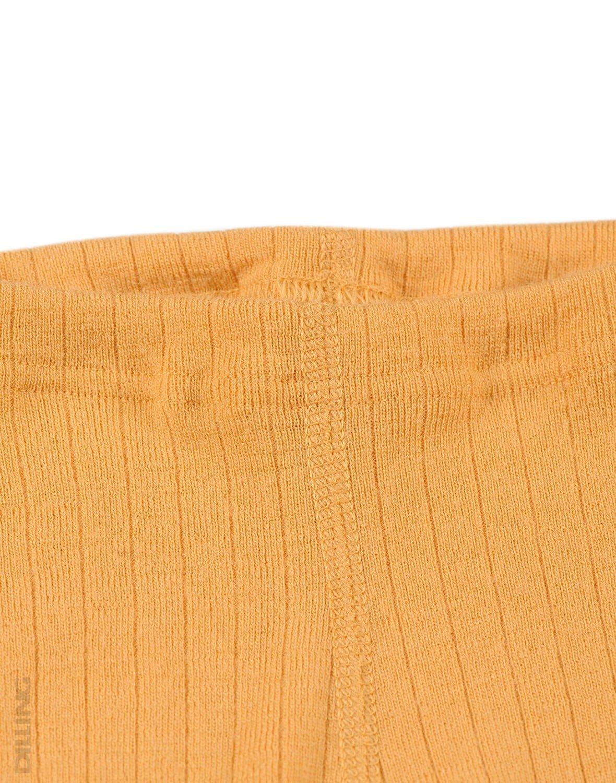 Pantaloni colanţi galbeni din lână merinos organică rib pentru bebeluşi Dilling 1