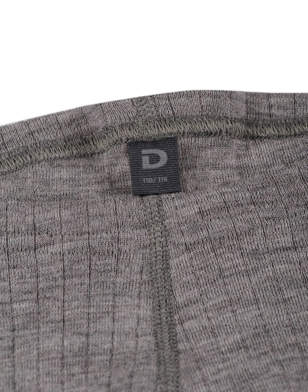 Pantaloni colanţi gri din lână merinos organică rib pentru copii Dilling 2
