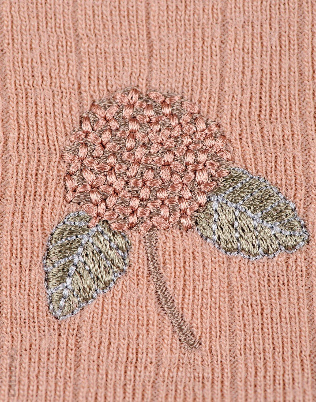 Rochie roz pudrat din lână merinos organică pentru fetiţe Dilling 1