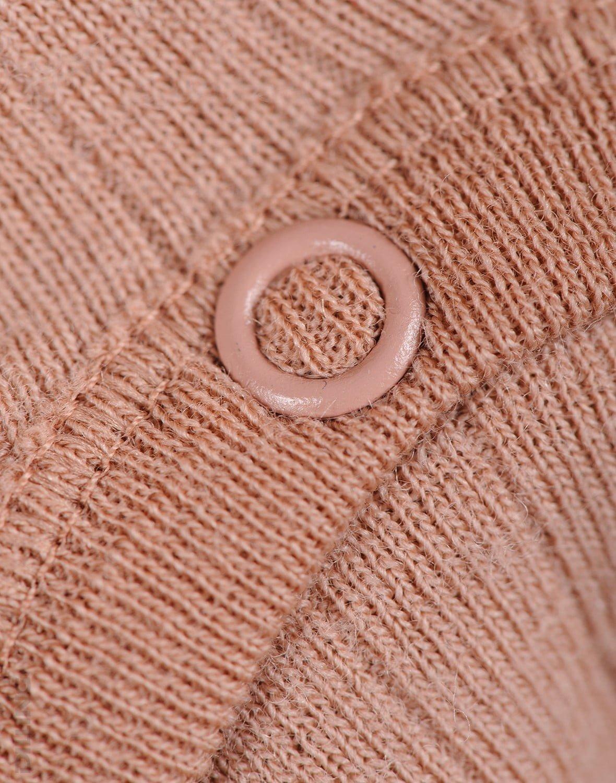 Salopetă – pijama overall roz pudrat din lână merinos organică rib pentru bebeluși Dilling 2