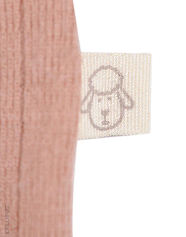 Salopetă – pijama overall roz pudrat din lână merinos organică rib pentru bebeluși Dilling 3