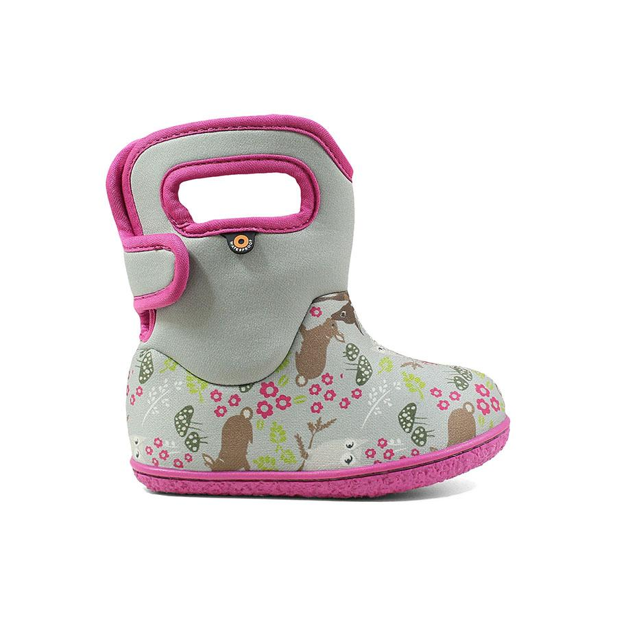 BOGS Footwear cizme de iarnă impermeabile Baby Bogs Reef Gray Multi 1