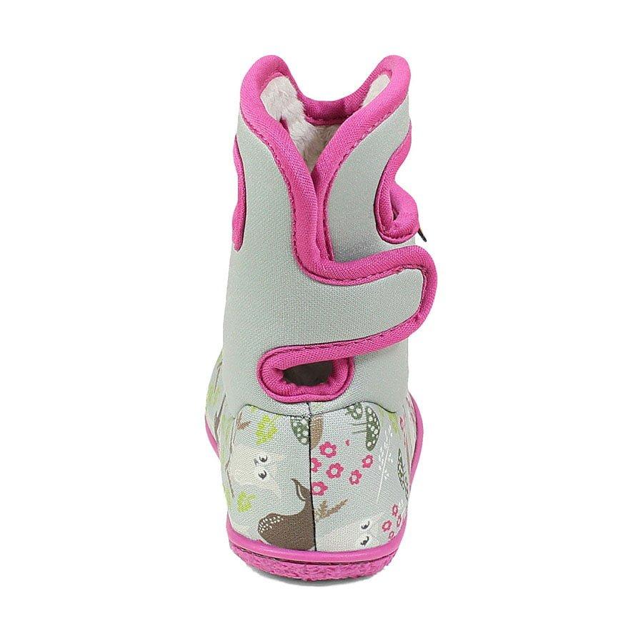 BOGS Footwear cizme de iarnă impermeabile Baby Bogs Reef Gray Multi 4