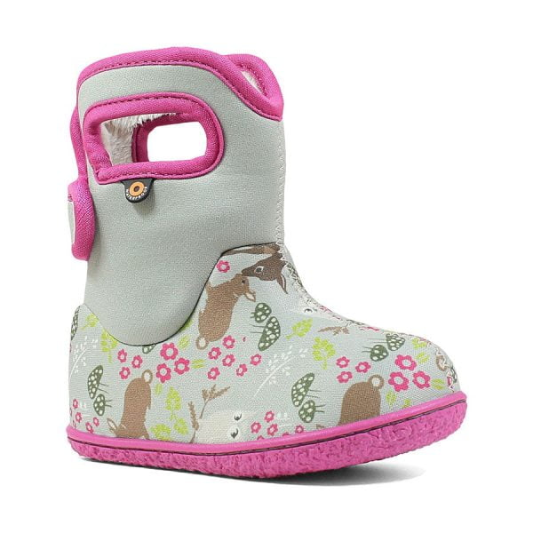 BOGS Footwear cizme de iarnă impermeabile Baby Bogs Reef Gray Multi