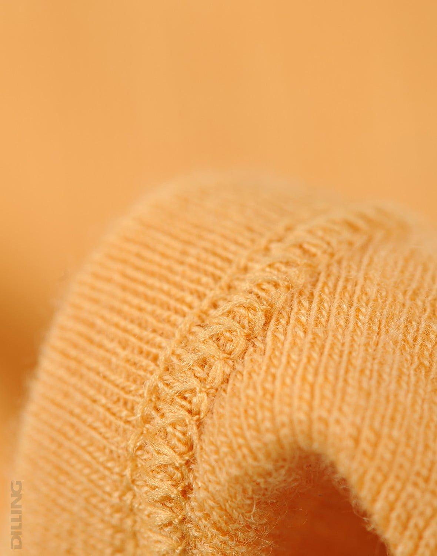 Cagulă galbenă din lână merinos organică rib pentru copiiDilling