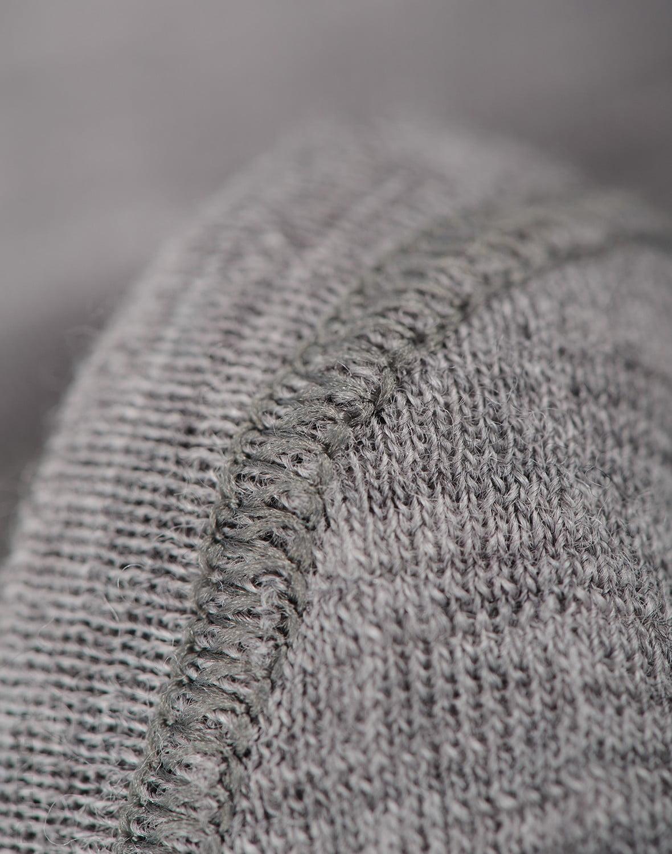 Cagulă gri deschis din lână merinos organică rib pentru copii Dilling
