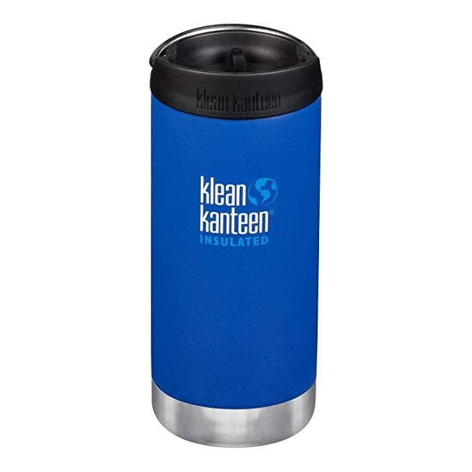 Cană termoizolantă termos cu capac de cafea Deep Surf Matte TKWide 355 ml Klean Kanteen