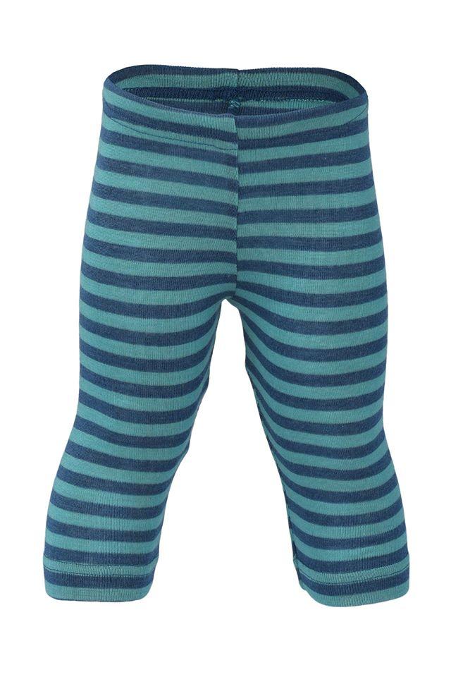 Pantaloni colanţi light ocean ice blue din lână merinos şi mătase organică copii Engel