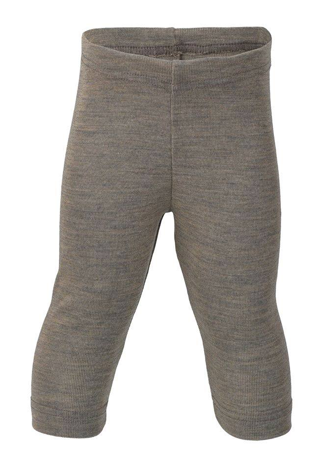 Pantaloni colanţi walnut din lână merinos şi mătase organică pentru copii Engel