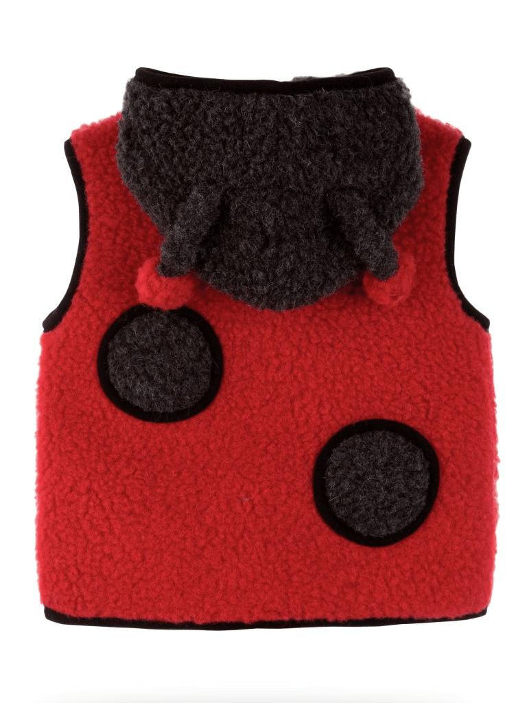 Vestă copii din lână merinos cu model animale buburuză - Ladybug Alwero