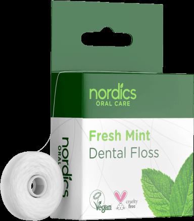 Ață dentară naturală cu mentă 50m Nordics