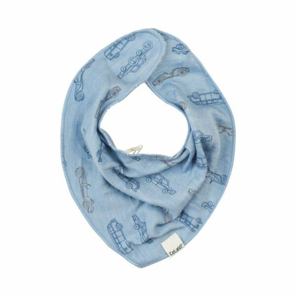 Bavetica din lana merinos dusty blue CeLaVi