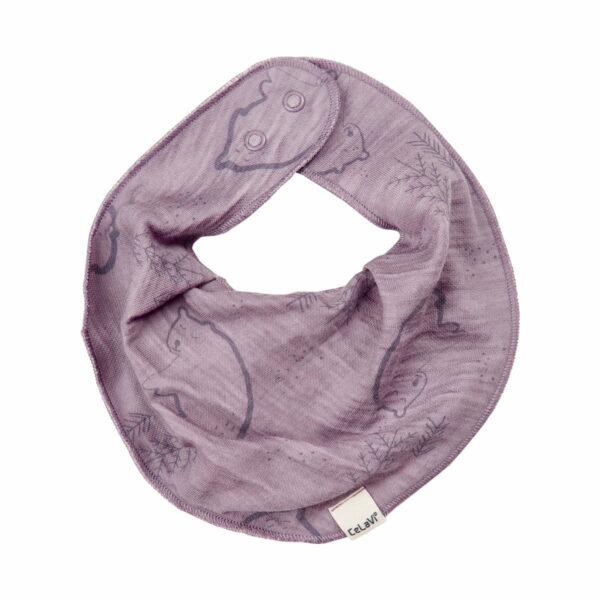 Bavetica din lana merinos si bambus purple ash CeLaVi