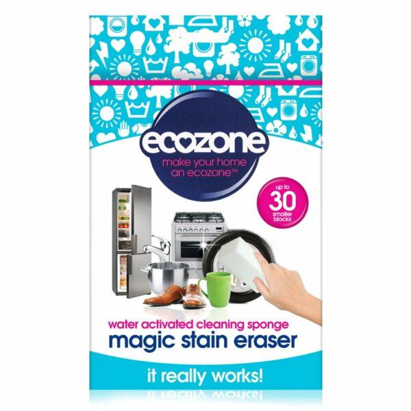 Burete Magic Stain universal pentru curățarea suprafețelor doar cu apă 2 buc Ecozone