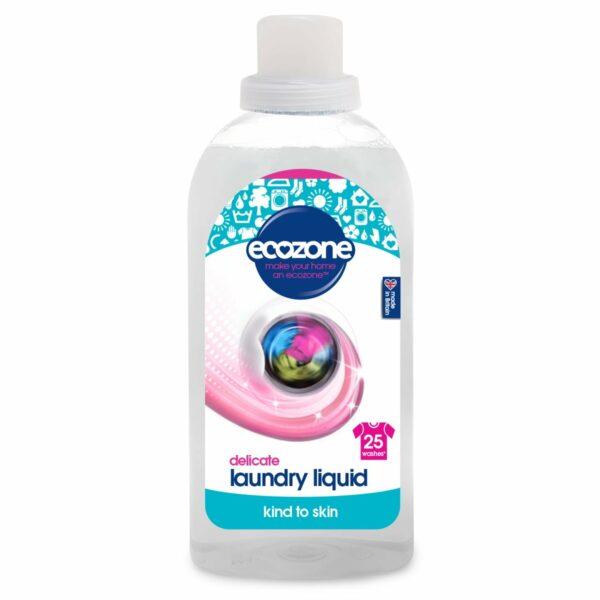 Detergent fără miros pentru hainele bebelușilor și rufe delicate 25 spălări 750 ml Ecozone