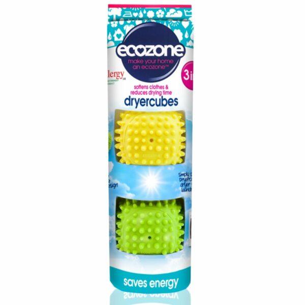 Dryer Cubes set cuburi 3 în 1 pentru uscare rapidă și catifelarea hainelor 2 buc Ecozone