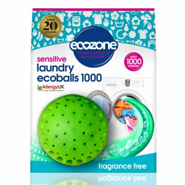 Ecoballs bilă eco pentru spălarea rufelor fără miros Sensitive 1000 spălări Ecozone