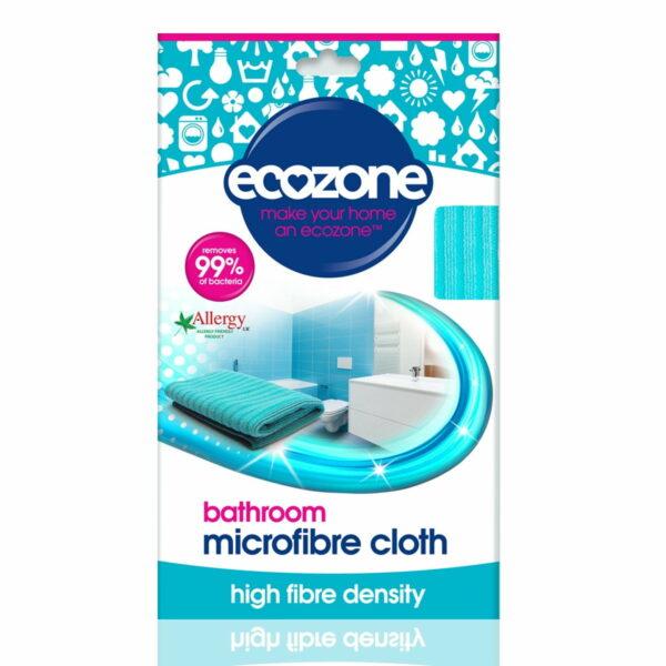 Lavetă din microfibră naturală pentru suprafețe baie 1 bucată Ecozone